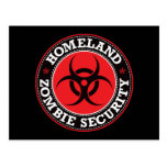 Homeland Zombie Security - Red B Post Card