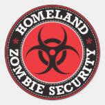 Homeland Zombie Security - Red B Sticker
