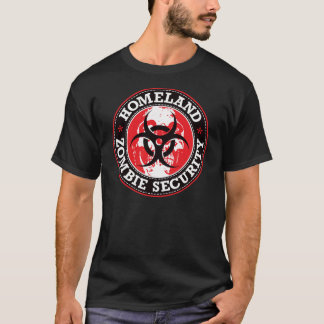 Homeland Zombie Security Skull - Red T-Shirt