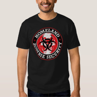 Homeland Zombie Security Skull - Red Tees