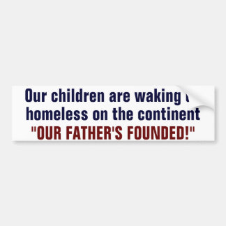 Homeless Children Bumper Sticker