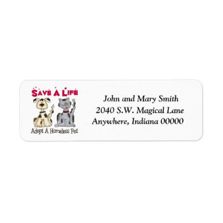 Homeless Pet Address Labels