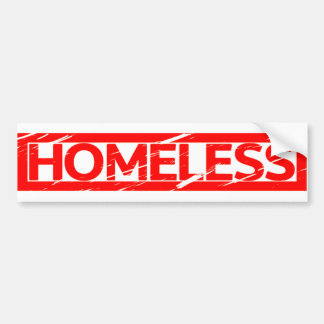 Homeless Stamp Bumper Sticker