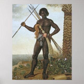 Homem africano (African man) by Albert Eckhout Print