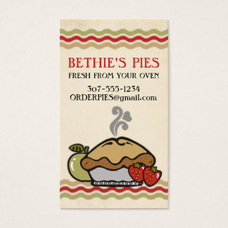 homemade apple strawberry pie bakery fruit pies business card
