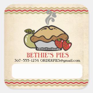 homemade apple strawberry pie bakery fruit pies square sticker