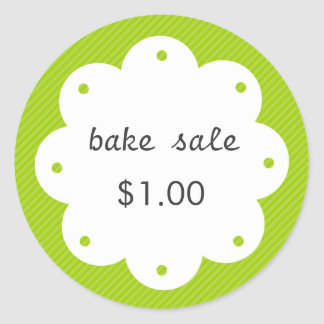 Homemade Bake Sale With Scalloped Edge Circle Round Sticker