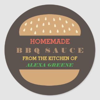 Homemade BBQ Sauce | From the kitchen of Round Sticker