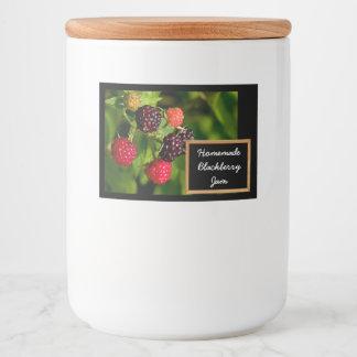 Homemade Blackberry Jam or Jelly Food Label