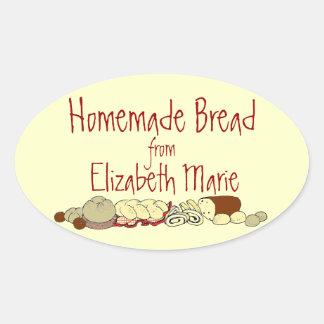 Homemade Bread Personalize It Oval Sticker