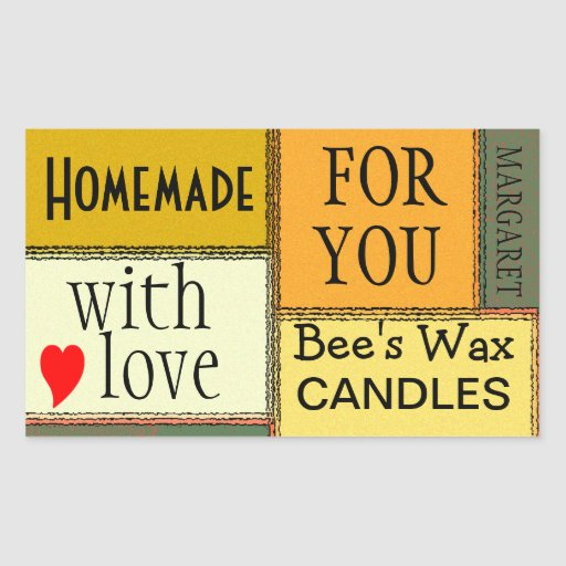 Homemade Candles-Personalize It Rectangle Sticker