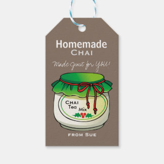 Homemade Chai Tea Mix Gift Tags
