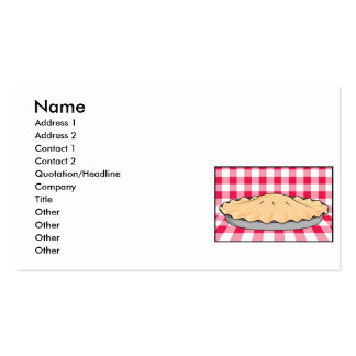 homemade cherry pie on checkered background pack of standard business cards