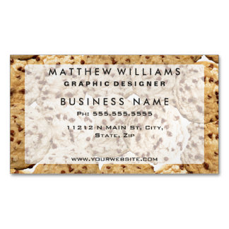 Homemade Chocolate Chip Cookies Magnetic Business Cards