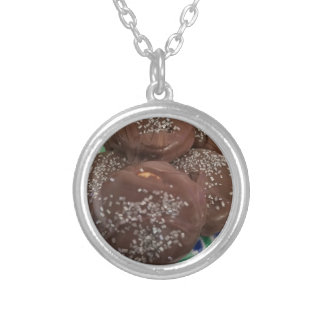 Homemade Chocolate Cookies Silver Plated Necklace