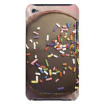 Homemade chocolate dessert with sprinkles barely there iPod cases