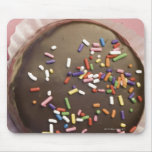 Homemade chocolate dessert with sprinkles mouse pad