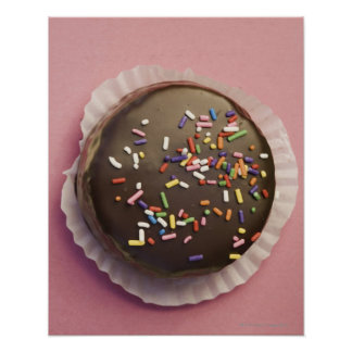 Homemade chocolate dessert with sprinkles poster