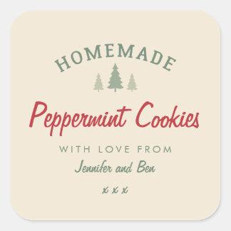 Homemade Christmas gift baking sticker