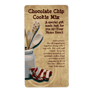 Homemade Cookie Mix Gift Jar Labels, Personalised Shipping Label