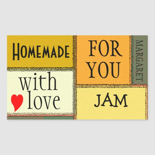 Homemade Food-Jam-Personalize It Rectangle Sticker