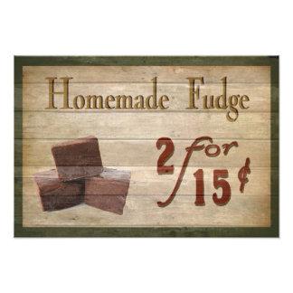 Homemade Fudge Photographic Print