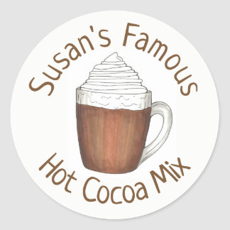 Homemade Hot Chocolate Cocoa Mix Personalized Classic Round Sticker