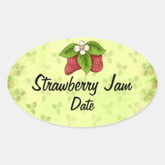 Homemade Jam Lables Oval Sticker