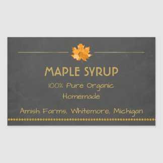 Homemade Maple Syrup Sticker for Jars
