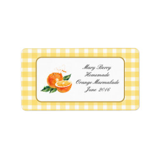 Homemade ORANGE MARMALADE  jam personalised  label Address Label
