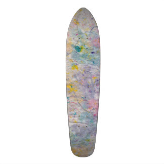 Homemade Paper with Colorful Pulp Accents Custom Skateboard