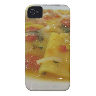 Homemade pasta with tomato sauce, onion, basil iPhone 4 Case-Mate case