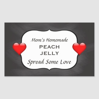 Homemade Peach Jelly Jam Canning Label Chalkboard