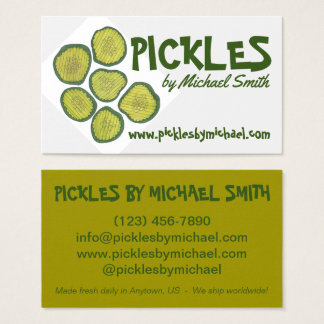 Homemade Pickles Sweet Chips Dill Pickle Shop Business Card