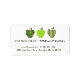 Homemade Preserves Business Address Label
