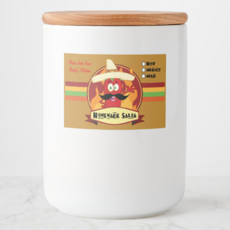 """Homemade Salsa Food Container Label (3"""" x 2"""")"""