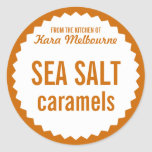Homemade Sea Salt Caramel Label Template Round Stickers