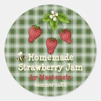 Homemade Strawberry Jam Jar Label (Customise)