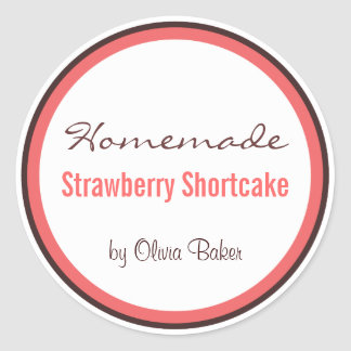 Homemade Strawberry Shortcake by Round Sticker