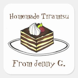 Homemade Tiramisu Personalized Baking Stickers