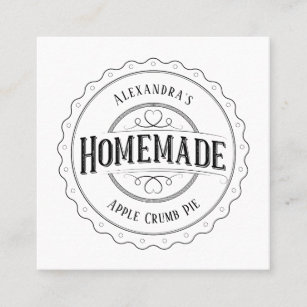 Homemade business cards zazzle au homemade vintage personalised label business cards reheart Image collections