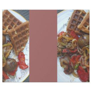 homemade waffles and potatoes