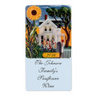 Homemade Wine Sunflower Porch Labelling Labels
