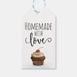 Homemade with love. Cupcake Gift Tags