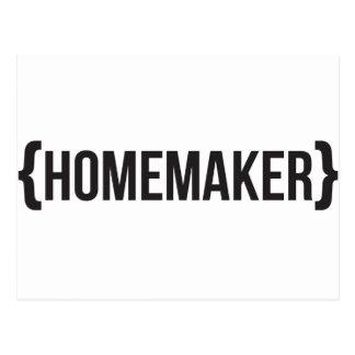Homemaker  - Bracketed - Black and White Postcard