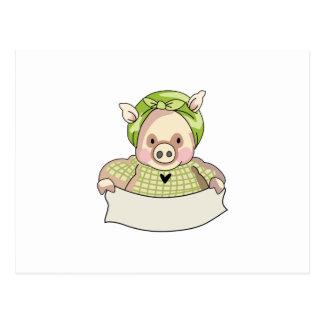 HOMEMAKER PIG POSTCARD