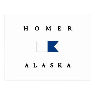 Homer Alaska Alpha Dive Flag Post Card