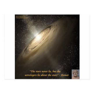 Homer & Astronomy Quote & Galaxy Postcard