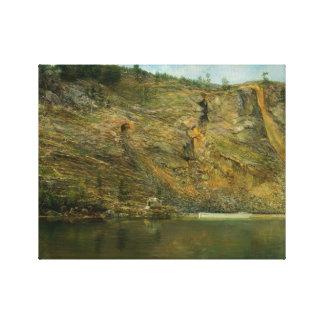 Homer Dodge Martin - The Iron Mine, Port Henry Canvas Print