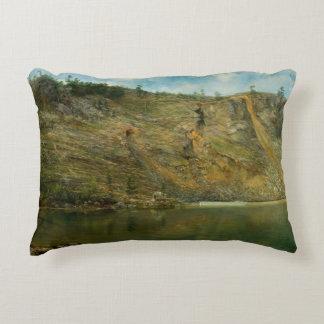 Homer Dodge Martin - The Iron Mine, Port Henry Decorative Cushion
